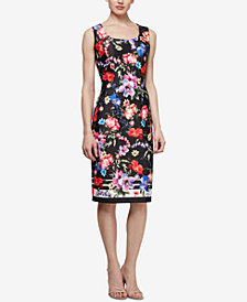 SL Fashions Floral-Print Sheath Dress