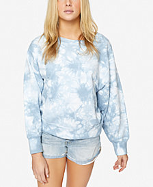 Sanctuary Tie-Dyed Cotton Dolman-Sleeve Sweatshirt