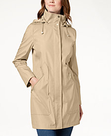 Ivanka Trump Hooded Solid Raincoat