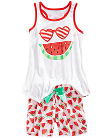 Max & Olivia 2-Pc. Watermelon Pajama Set, Little Girls & Big Girls