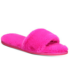 I.N.C. Women's Faux-Fur Slide Slippers, Created for Macy's