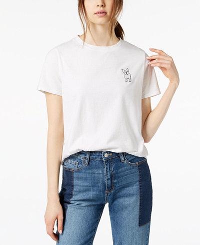 Buffalo David Bitton Cotton Embroidered T-Shirt