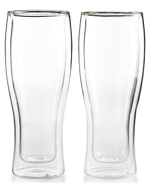J.A. Henckels Zwilling Sorrento Double Wall Beer Glasses, Set of 2