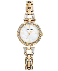 Anne Klein Women's Gold-Tone Bracelet Watch 26mm