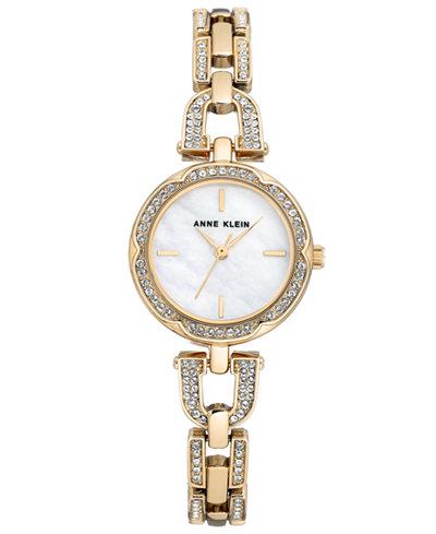 Anne Klein Women's Gold-Tone Bracelet Watch 26mm
