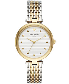 kate spade new york Women's Varick Two-Tone Stainless Steel Bracelet Watch 36mm