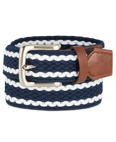 Club Room Men's Braided Stretch Belt, Created for Macy's