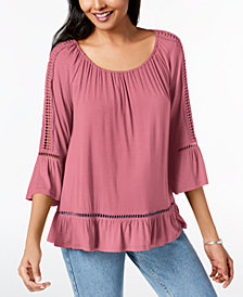 John Paul Richard Petite Crochet-Trim Tunic