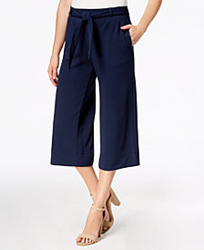 John Paul Richard Petite Wide-Leg Cropped Pants, Created for Macy's