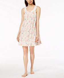 Charter Club Pleated Ruffled Nightgown, Created for Macy's