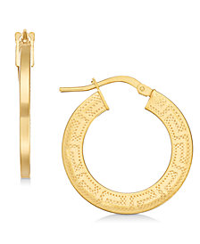 Giani Bernini Greek Key Hoop Earrings, Created for Macy's