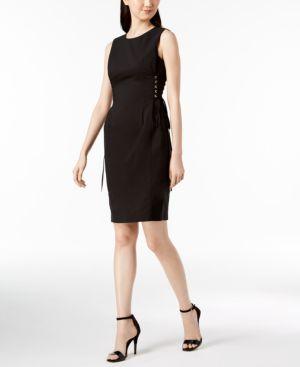 COTTON LACE-UP CORSET DRESS