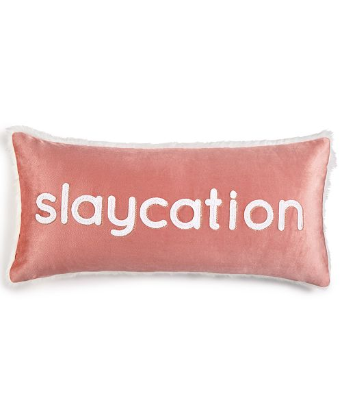 Lacourte Slaycation 40 X 40 Embroidered Decorative Pillow With Extraordinary Decorative Trim For Pillows