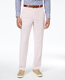 Sean John Men's Classic-Fit Stretch Pink Solid Suit Pants