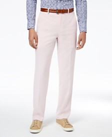 CLOSEOUT! Sean John Men's Classic-Fit Stretch Pink Solid Suit Pants