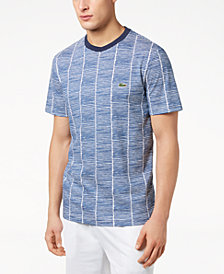 Lacoste Men's Broken Stripe-Print T-Shirt