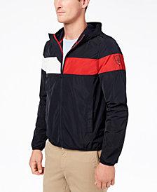Tommy Hilfiger Men's Erwin Colorblocked Hooded Windbreaker, Created for Macy's