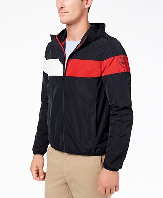 Tommy Hilfiger Men S Erwin Colorblocked Hooded Windbreaker Created