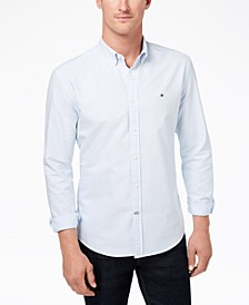 Men's New England Stripe Custom-Fit Shirt, Created for Macy's
