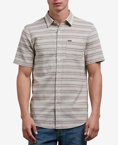 Volcom Men's Sable Stripe Pocket Shirt