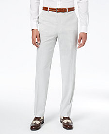 CLOSEOUT! Sean John Men's Classic-Fit Stretch Gray Stripe Seersucker Suit Pants
