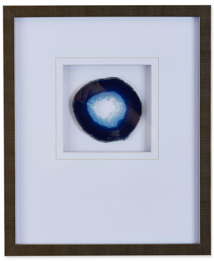 JLA Home - Blue Agate Stone Framed Wall Art