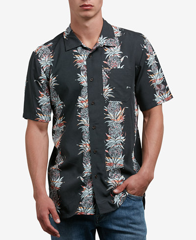 Volcom Men's Palm Glitch Printed Shirt