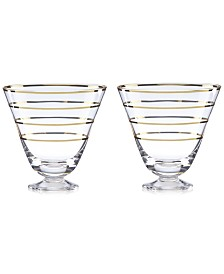 kate spade new york Melrose Avenue Cocktail Glasses, Set of 2