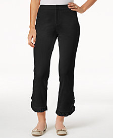Charter Club Newport Ruffled Cropped Pants, Created for Macy's