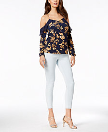 Thalia Sodi Cold-Shoulder Chain Top & Pull-On Jeggings, Created for Macy's