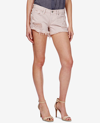 The Cut Off Ripped Cotton Denim Shorts by Lucky Brand