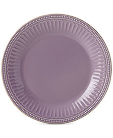 Lenox French Perle Groove Violet Dinner Plate