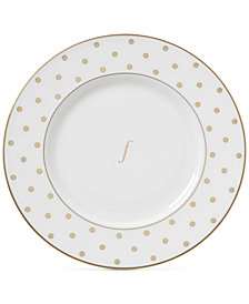 kate spade new york Larabee Road Gold Monogram Accent Plate
