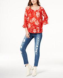 I.N.C. Peasant Top & Skinny Jeans, Created for Macy's