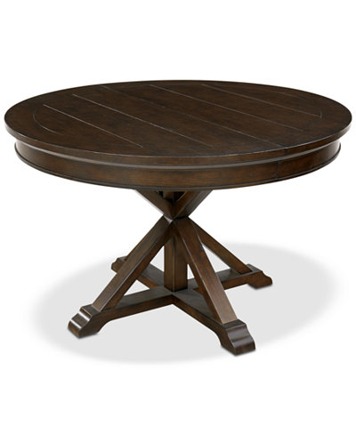 Baker Street Round Expandable Dining Table, Created for Macy's
