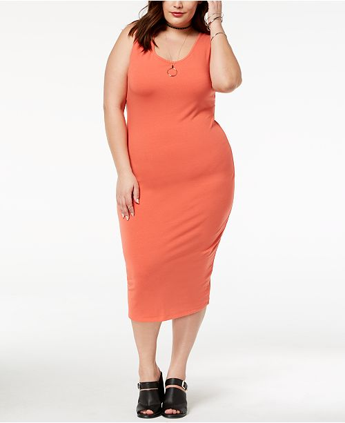 8907638dfe9d Planet Gold Trendy Plus Size Scoop-Neck Body-con Dress   Reviews ...