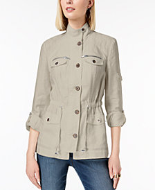I.N.C. Linen Utility Jacket, Created for Macy's