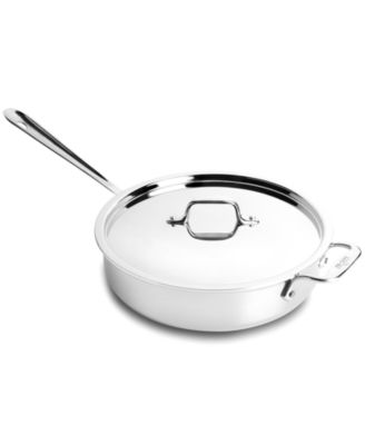 allclad stainless steel 3 qt covered saute pan
