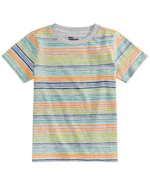Epic Threads Monroe Striped T-Shirt, Little Boys, Created for Macy's