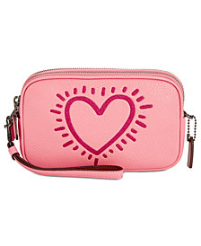 COACH Keith Haring Flitter Motif Crossbody Clutch
