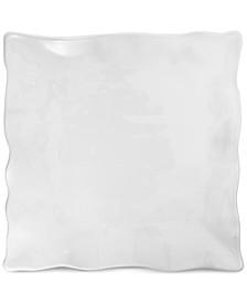 Large White Ruffle Melamine Square Platter