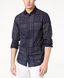 A|X Armani Exchange Men's Shashiko-Print Shirt