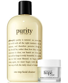 philosophy 2-Pc. Purity Made Simple & Renewed Hope In A Jar Set