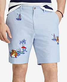 "Polo Ralph Lauren Men's Classic Fit Embroidered Beach Bear 9-1/4"" Shorts"