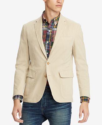 Polo Ralph Lauren Mens Stretch Chino Morgan Slim Fit Sport Coat