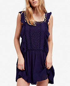 Free People Priscilla Ruffled Crochet-Trim Dress