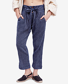 Free People Rumors Yarn-Dye Harem Pants