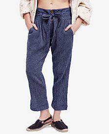 Free People Rumors Yarn-Dye Harem Pants