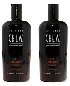 American Crew 3-In-1 Moisturizing Shampoo Duo (Two Items), 15.2-oz., from PUREBEAUTY Salon & Spa
