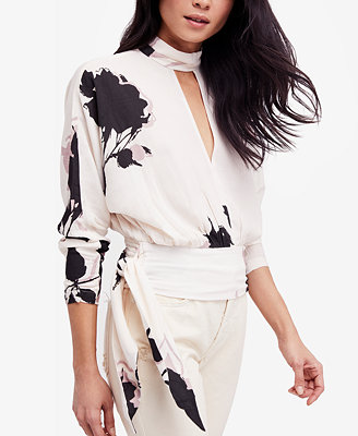 Say You Love Me Floral Print Keyhole Top by Free People